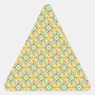 Pegatina Triangular Modelo amarillo del festival