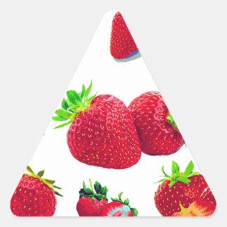 Pegatina Triangular Modelo de la fruta de la fresa