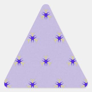 Pegatina Triangular Modelo delicado de la explosión de la púrpura de