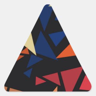 Pegatina Triangular Modelo geométrico colorido