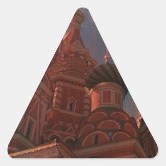 Pegatina Triangular Moscow_russia