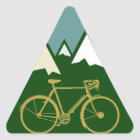 Pegatina Triangular motoristas aventura, montañas