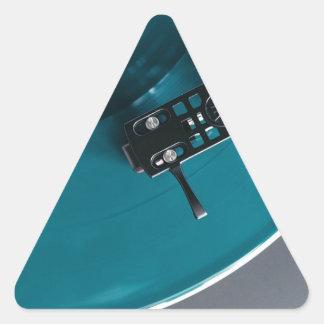Pegatina Triangular Música del álbum de disco de vinilo de la placa