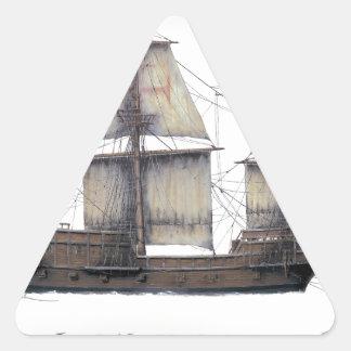 Pegatina Triangular Nave de oro de 1578 Hinde