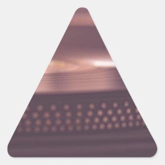 Pegatina Triangular Negro del equipo del vinilo del expediente de la