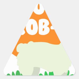 Pegatina Triangular Ninguna Prob-Llama - la ninguna llama del problema