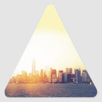 Pegatina Triangular Nueva York Nueva York