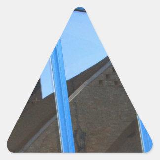 Pegatina Triangular Paleta de viento en la ventana