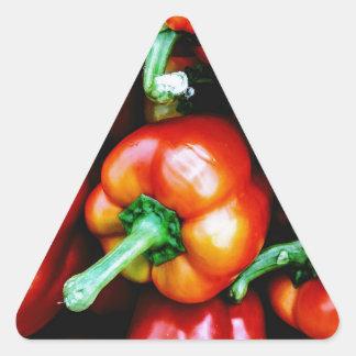 Pegatina Triangular Paprikas Rojos