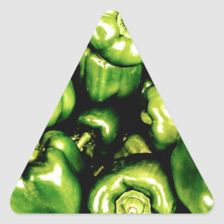 Pegatina Triangular Paprikas Verdes