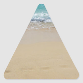 Pegatina Triangular paraíso tropical