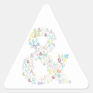 """Pegatina Triangular Pasteles del signo """"&"""""""