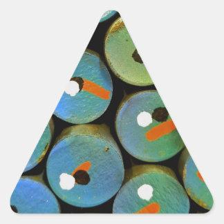 Pegatina Triangular Pavo real industrial