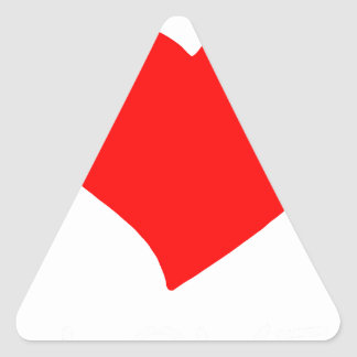 Pegatina Triangular paz love6