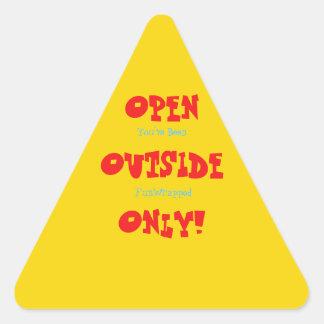 Pegatina Triangular Pegatinas básicos abiertos del exterior de