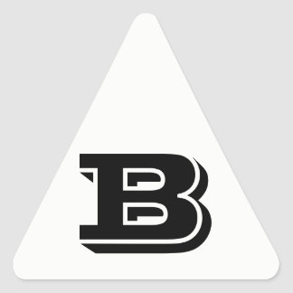 Pegatina Triangular Pegatinas blancos del triángulo de la letra B