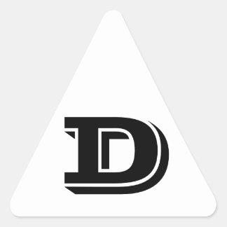 Pegatina Triangular Pegatinas blancos del triángulo de la letra D
