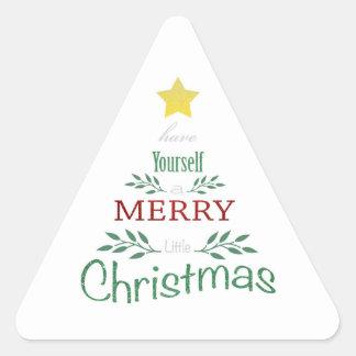 Pegatina Triangular Pegatinas del navidad
