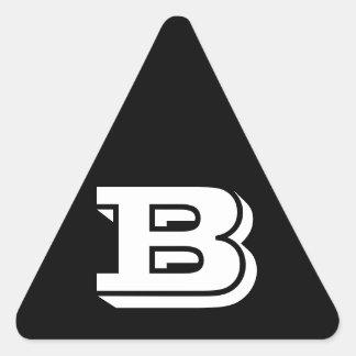 Pegatina Triangular Pegatinas negros del triángulo de la letra B
