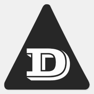 Pegatina Triangular Pegatinas negros del triángulo de la letra D