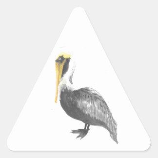 Pegatina Triangular Pelícano de Brown