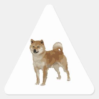 Pegatina Triangular Perro de Shiba Inu