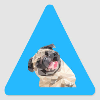 Pegatina Triangular Perro precioso de las fregonas