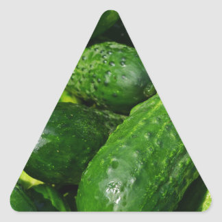 Pegatina Triangular pila de los pepinos