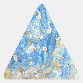 Pegatina Triangular Pintura azul abstracta
