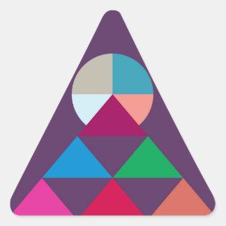 Pegatina Triangular Pirámide