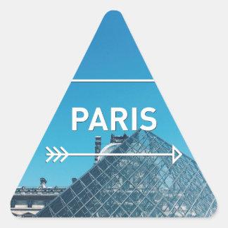 Pegatina Triangular Pirámide París del Louvre