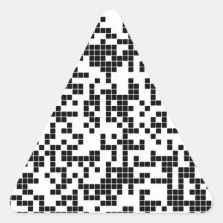 Pegatina Triangular pixel
