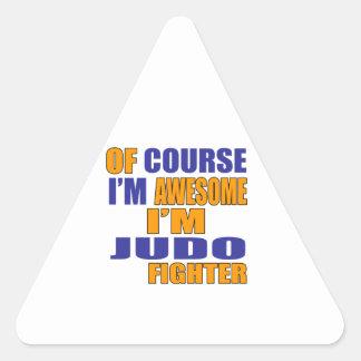 Pegatina Triangular Por supuesto soy combatiente del judo