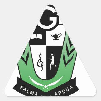 Pegatina Triangular Productos del escudo de la reunión de los alumnos