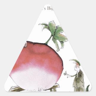 Pegatina Triangular Rábano grande de Yorkshire del amor