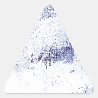Pegatina Triangular Ramas de doblez después de la tormenta de hielo