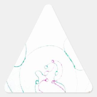 Pegatina Triangular Red de un Sengaku nudoso