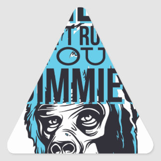 Pegatina Triangular relaje a los amigos no crujen, monkey