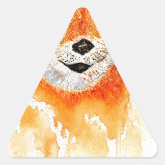 Pegatina Triangular Retrato de Shiba Inu