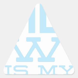 Pegatina Triangular Reuniones del AA de la beca del Homeboy de Bill W