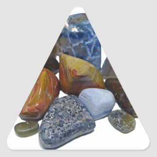 Pegatina Triangular Rocas pulidas