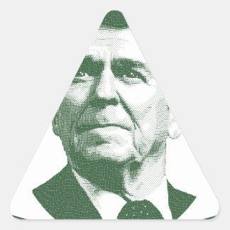 Pegatina Triangular Ronald Reagan una nación debajo de dios
