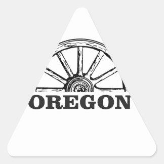 Pegatina Triangular rueda simple del rastro de Oregon