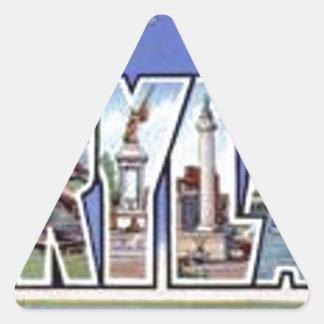 Pegatina Triangular Saludos de Maryland