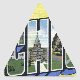 Pegatina Triangular Saludos de Michigan