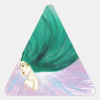 Pegatina Triangular Salvaje y libre