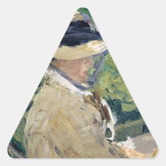 Pegatina Triangular Señora Manet (Susana Leenhoff, 1830-1906)