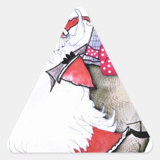 Pegatina Triangular ShardArt Santa gordo de Tony Fernandes