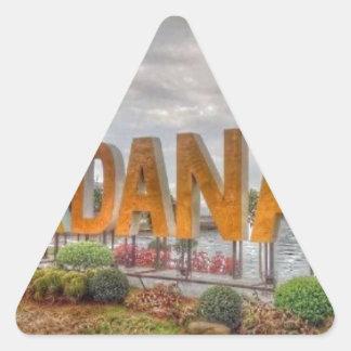 Pegatina Triangular Siglakdanao en ciudad del danao