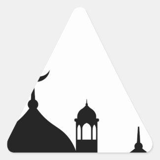 Pegatina Triangular Silueta de la mezquita